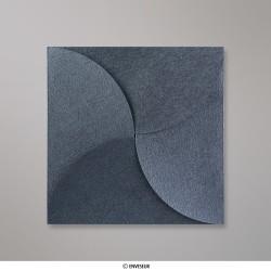 145x145 mm Stredne šedá skladaná obálka (Pouchette)