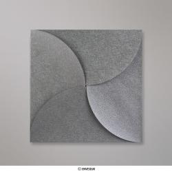 145x145 mm Strieborná skladaná obálka (Pouchette)