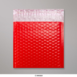 165x165 mm Red Poly Gloss Bubble Bag