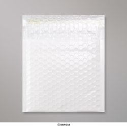 165x165 mm White Poly Gloss Bubble Bag