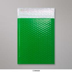 250x180 mm Green Poly Gloss Bubble Bag