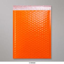340x240 mm Orange Poly Gloss Bubble Bag