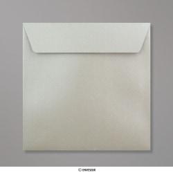 155x155 mm envelope pérola prateado