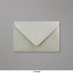 62x94 mm Zilverkleurige parelmoer-envelop