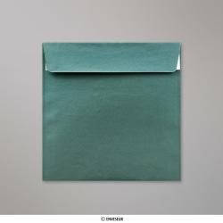 155x155 mm Vianočná-zelená perleťová obálka