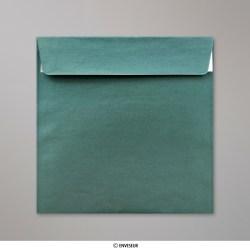 170x170 mm Envelope pérola Natal Verde