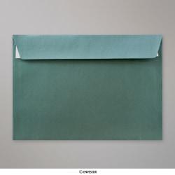 162x229 mm (C5) Zelená vianočná perleťová obálka