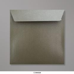 155x155 mm Enveloppe Perlée Taupe, Perlée Taupe, Auto-adhésive avec Bande Détachable