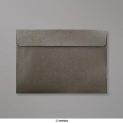 Sobre Con Lustre De Perla Gris Marrón de 114x162 mm (C6), Gris Marrón Perlado, Autoadhesivo