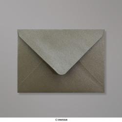82x113 mm (C7) Šedo-hnedá perleťová obálka