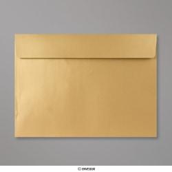 229x324 mm (C4) Gold Briefumschlag mit Perlmutteffekt, Gold, Haftklebend - Verschluss
