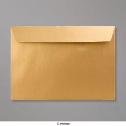 162x229 mm (C5) Enveloppe Perlée Dorée, Doré, Auto-adhésive avec Bande Détachable