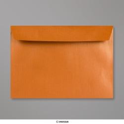 229x324 mm (C4) Kupfer-Orange Briefumschlag mit Perlmutteffekt, Kupfer, Haftklebend - Verschluss