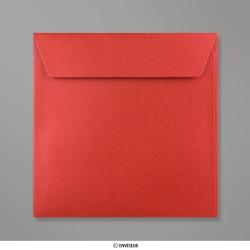 Sobre Con Lustre De Perla Rojo Cardenal de 155x155 mm, Rojo Cardenal, Autoadhesivo