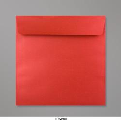 170x170 mm Enveloppes Perlées Rouges Cardinal, Rouge Cardinal, Auto-adhésive avec Bande Détachable