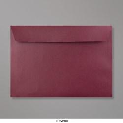 162x229 mm (C5) Aubergine Briefumschlag mit Perlmutteffekt, Aubergine Perlmutt, Haftklebend