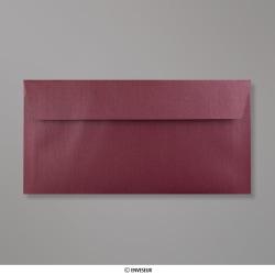 110x220 mm (DL) Enveloppe Perlée Aubergine, Perlée Aubergine, Auto-adhésive avec Bande Détachable