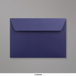 114x162 mm (C6) Enveloppe Perlée Bleue Nuit, Bleu Nuit, Auto-adhésive avec Bande Détachable