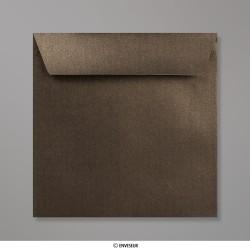 155x155 mm Enveloppe Perlée Bronze, Bronze, Auto-adhésive avec Bande Détachable