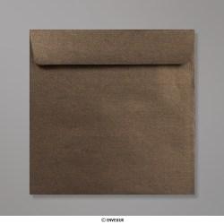 170x170 mm envelope pérola bronze