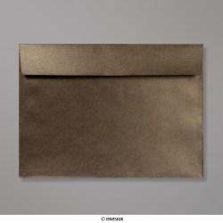 229x324 mm (C4) Bronze Briefumschlag mit Perlmutteffekt, Bronze, Haftklebend