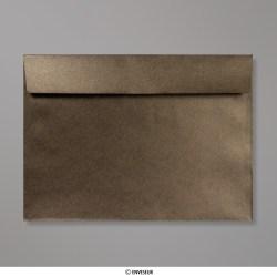 162x229 mm (C5) Enveloppe Perlée Bronze, Bronze, Auto-adhésive avec Bande Détachable