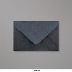 62x94 mm Enveloppe Perlée Ardoise, Grise Argentée, Gommée