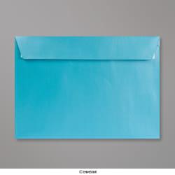 162x229 mm (C5) Babyblau Briefumschlag mit Perlmutteffekt, Babyblau Perlmutt, Haftklebend - Verschluss