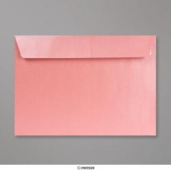 162x229 mm (C5) Babyrosa Briefumschlag mit Perlmutteffekt, Babyrosa, Haftklebend
