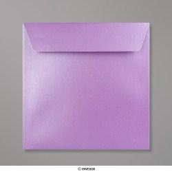 155x155 mm Enveloppe Perlée Lavande, Perlée Lavande, Auto-adhésive avec Bande Détachable