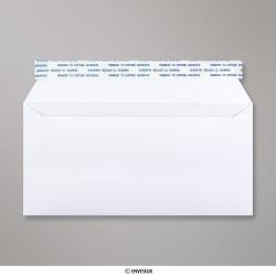 110x220 mm (DL) Biela obálka