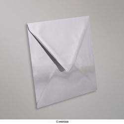 160x160 mm envelopes finição espelho prateados