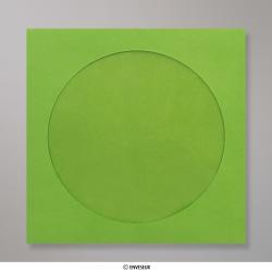 85x85 mm Enveloppe verte pour CD, Vert, Auto-adhésive avec Bande Détachable