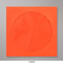 85x85 mm Enveloppe orange pour CD, Orange, Auto-adhésive avec Bande Détachable