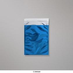 162x114 mm (C6) bolsa de papel de prata - azul