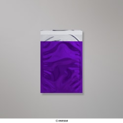Bolsa De Aluminio Metálico Púrpura Brillante de 162x114 mm (C6), Púrpura, Autoadhesivo