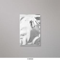 162x114 mm (C6) Silber Glänzend Folien-Briefumschlag, Silber, Haftklebend