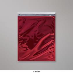 324x254 mm Cervené lesklé metalické fóliové vrecko