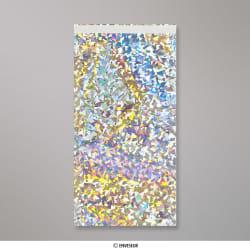 229x114 mm Bolsa de papel de prata - prata holografico