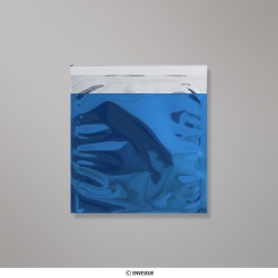 165x165 mm bolsa de papel de prata - azul