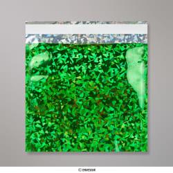 165x165 mm Groen Holographisch Folie Tasje