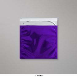 Bolsa De Aluminio Metálico Púrpura Brillante de 165x165 mm, Púrpura, Autoadhesivo