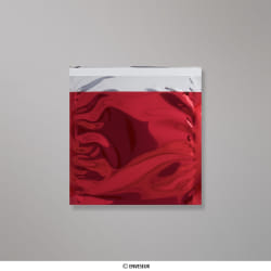 165x165 mm bolsa de papel de prata - vermelho