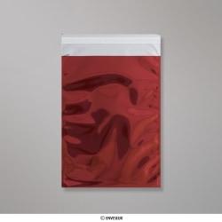 229x162 mm (C5) Rot Glänzend Folien-Briefumschlag, Rot, Haftklebend - Verschluss