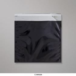 220x220 mm bolsa de papel de prata - preto