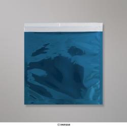 220x220 mm Sachet Alu Métallisé Brillant Bleu, Bleu, Auto-adhésive avec Bande Détachable