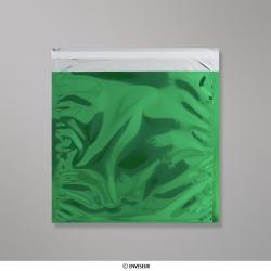 220x220 mm Busta in Lamina Metallica Lucida Verde, Verde, Con autoadesivo protetto da strip