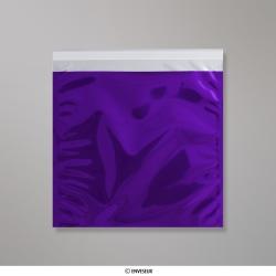 220x220 mm Purpurové lesklé metalické fóliové vrecko