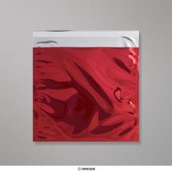 220x220 mm Cervené lesklé metalické fóliové vrecko
