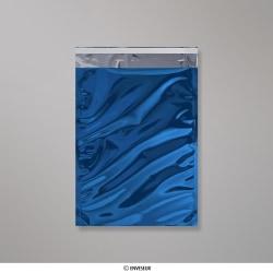 324x229 mm (C4) Sachet Alu Métallisé Brillant Bleu, Bleu, Auto-adhésive avec Bande Détachable